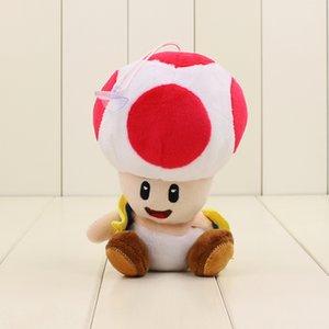 16 centímetros Super Mario Bros Toad Toy Mushroom Plush 4 cores Toad Macio Stuffed Dolls Pendant com otário