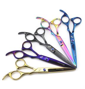 2pc / set Forbici professionali per taglio di capelli Forbici per capelli Kit per forbici per parrucchiere Forbici per diradamento diritte Strumenti per parrucchieri