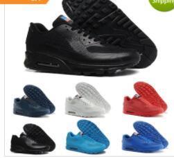 hommes 90 HYP PRM QS Chaussures de course rouge or noir noir Fashion Jour de l'Indépendance Jour Zapatillas Drapeau USA Sport Baskets adultes 40-46