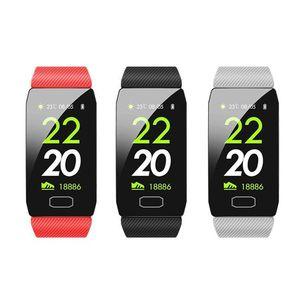 New Q1 inteligente Pulseira de Fitness Rastreador Heart Rate sono Oxygen Blood Pressure Monitoring Tempo Chamada Informação Inteligente Pulseiras