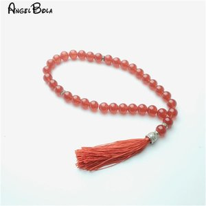 New 33 Beads 8mm Islamic Muslim glass Prayer Rosary Bracelets with Tassel Jewelry Charm Bracelets For Woman Tasbin Rosary