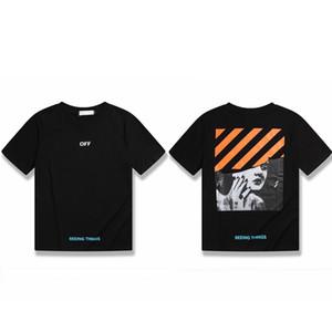 Neues Designer-T-Shirt für Männer Frauen Baumwolle Kurzarm Sommer-Oberseiten-T-Stück Mode Laptop-Aufkleber 1 Opp Beutel