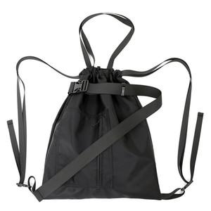 Designer-Haute Qualité String Backpack Femmes 2018 Nouvelle Lettre Solide Sacs D'école Pour Adolescent Filles / Hommes Protection Pour Ordinateur Portable Dame Loisirs Noir