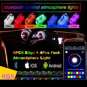 Led Car Interior Ambient Atmosphere Mood Light Rgb App Remote Control Backlight Auto Foot Center Console Door Decorative Lights