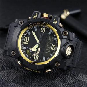 2020 Classic Design Mode Hommes Montre-bracelet de haute qualité G-1000 Montre numérique Led Boussole Homme Sport Waterproof Quartz Batterie Horloge