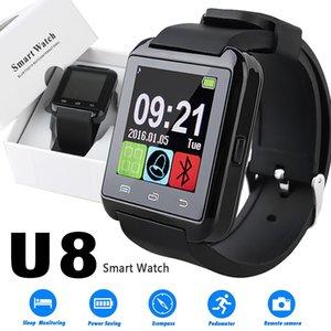 U8 Smart Watch d'écran tactile Montres avec moniteur de sommeil pour iPhone 7 6 Samsung S8 Android IOS Cell Phone