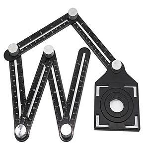 Multi Angle METRO A 6 Metro pieghevole Tile foro di posizionamento w / trapano Guida per Puncher Carpenteria
