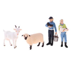 Farm Animals Figuras Brinquedos Simulação Farm Animals Toy Define Mini plástico Figuras Modelos Cenas Dollhouse Farm Vida Decor
