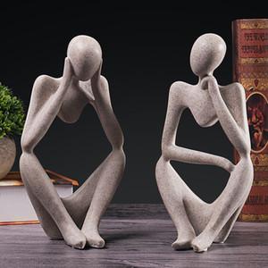 ornements penseur sculpture européenne caractère porche vin salle modèle du cabinet créatif décorations étude de salon de la maison de gros