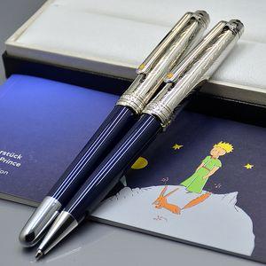 أعلى درجة لطيف الأمير الصغير نافورة القلم مع الرقم التسلسلي نحت مكتب القرطاسية المدرسية مونت الأزياء الكتابة الحبر الكرة الأقلام لأفضل هدية