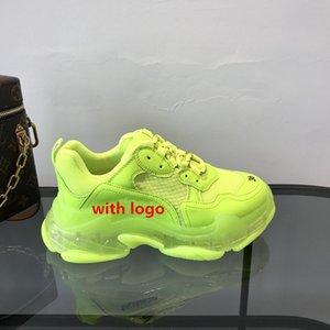 em estoque! combinação de idade e pai sola de sapato sapatilha cor cristal único sapatos femininos personalidade belo mosaico fluorescente de tendência de cor
