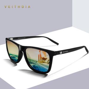 Veithdia Brand Unisex Retro Aluminum+Tr90 Square Sunglasses Polarized Lens Vintage Eyewear Accessories Sun Glasses For Men Women wfzyY