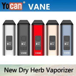 Original Yocan Vane Kit Dry Herb Vaporizer E Cigarette Kits 1100mAh TC With OLED Display Ceramic Chamber Herbal Vape Pen VS Yocan iShred
