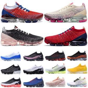 배 블랙 디자이너 Maxes 남성 여성 스니커즈 플라이 화이트 쿠션 트레이너 Zapatos 니트 체배기 CHAUSSURES는 Moc Laceless 2.0 3.0 실행 신발