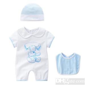 2019 Cuello redondo Ropa de uniforme de algodón Nuevo bebé recién nacido mameluco de la muchacha del muchacho Ropa de manga larga infantil Producto Primavera Otoño-25