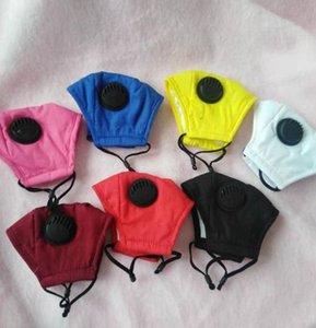 boca criança máscara máscaras PM2.5 Boca tampa protetora de algodão com respiro válvula crianças Máscara Facial lavável pode usar filtro LJJK2344