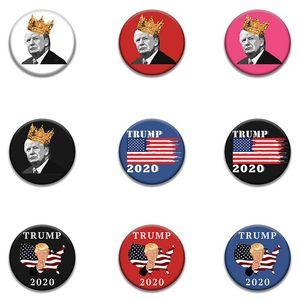 Trump Badge commémorative 20 Styles New 2020 Fournitures électorale américaine Badge Trump Supply Stock Qualité US Flag EEA1673