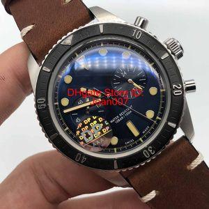 DP Luxury Watches Orologi da uomo ORS Watch Best Quality Watch Quarzo Batteria Sweep Movement Original Clasp Watches Cinturino in pelle marrone 43mm