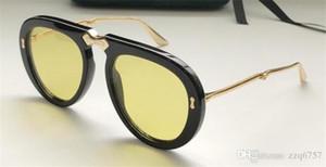 Yeni moda tasarımcısı güneş gözlüğü 0307-2 yaz Avant-garde ile pilot katlanabilir asetat çerçeve popüler stil uv 400 lens