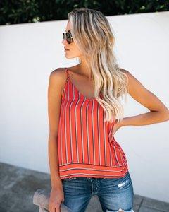 Verano sin mangas de las mujeres del tanque del chaleco remata la blusa tee verano de las señoras camiseta ocasional