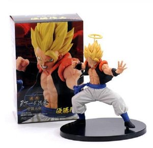 Dragon Ball Z Gogeta Super Saiyan Angel Ver. PVC Action Figure DBZ Vegeta Goku Fusion Chocolate Figuration Com Model 20cm