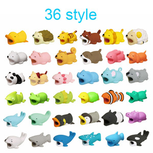 Cavo morso per animali 36styles proteggi cavo Savor Cover per iPhone Lightings Cute Animal Design Cavo di ricarica Protettivo n