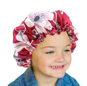 Новая мода Дети сатин Night Sleep Cap волос Bonnet Hat Silk Крышка головки Резинка полуночников Bath Spa капота де Nuit