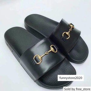 2019 Top Quality Letter embroidery Bee Tiger flip flop Leather Fashion Woman Heart-shaped Slippers sandals With Box
