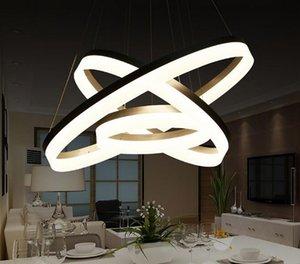 Estilo do clássico do Circular Anel Pendant lâmpada Acrílico Pendant luzes luminárias para viver lâmpada quarto quarto LLFA