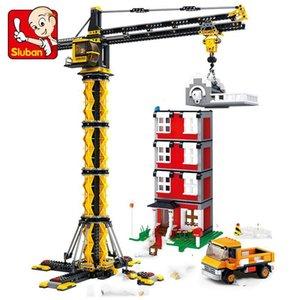 Città Ingegneria auto escavatore gru per camion Building Blocks carrello elevatore Chil Istruzione bambini Giocattoli Costruzione Compatib Legoinglys