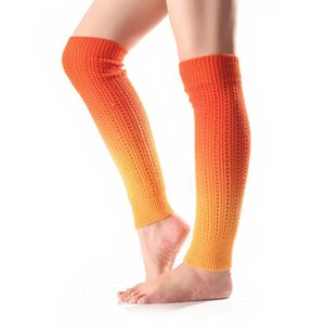 Gradient Color Knit Boot Leg Warmers Slim Knee Stockings Winter Socks for Women Drop Ship