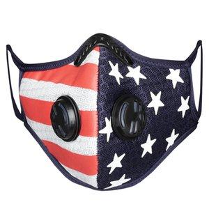 Vana Spor açık Yıkanabilir ile Spor 3-5 gün süre Hızlı Teslimat Filtreler toz geçirmez Nefes Mesh Filtre Amerikan Bayrağı Maskeler Maske Nefes