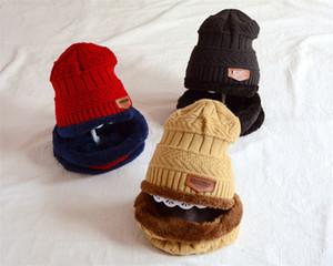 6 color Niños cápsula de la manera bufanda del invierno Conjunto de lana y la protección auditiva del paño grueso y suave del bebé caliente de los sombreros de los niños Niño Niña al aire libre de esquí Caps T506 regalo de Navidad