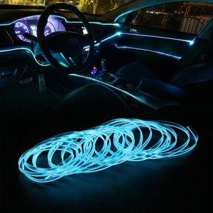 1m/2m/3m / 5m CAR LED Strips Auto Decoration Atmosphere Lample 12v Flexible Neon EL Wire Indoor Interior LED Car Light