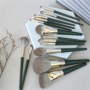 14pcs / set Verfassungs-Bürsten-Satz-Kosmetik Foundation Powder Blush Lidschatten Lip Mischung Beauty Make Up Pinsel-Werkzeug