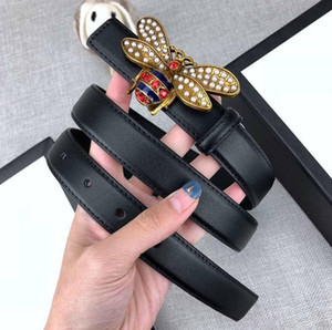 Cinghie designer Uomo Donna Marca cinghia l'inarcamento liscio 5 Modelli Bee Larghezza fibbia Cintura 2,4 centimetri, altri Larghezza 3,8 centimetri di alta qualità