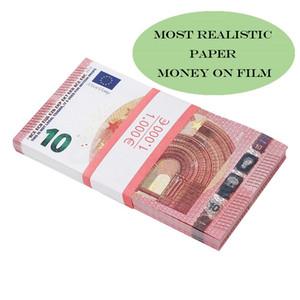 Beste Qualität Movie Money Euro 5/10/20/55 Papierkopie Banknote Prop-Geld Euro 100pcs / Packung