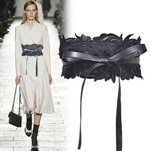 الدانتيل النساء واسعة حزام مصمم الأزياء الفاخرة أحزمة سيدة اللباس حزام حزام مزاج مثير للحزب