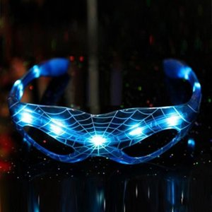 2020 new easy-to-use LED cool flash mask glasses LED Spider-Man party decoration colorful light-emitting toys children
