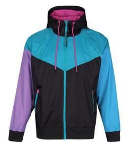 Moda-Marka Erkekler Windrunner Ceketler İlkbahar Sonbahar Spor Kapşonlu Renkler Patchwork Tasarımcı Ceket Palto