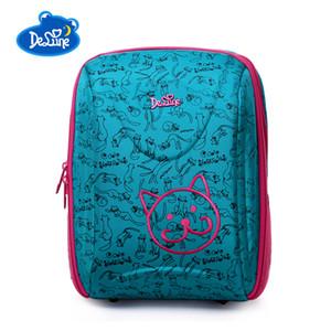 Escuela de dibujos animados delune niños bolsas escolares los niños Ortopédica segura mochila para chicas Bolsas por 1-3 Grado de clase Estudiante