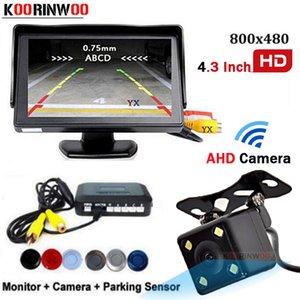Koorinwoo Core CPU System AHD Car Parking Sensors 4 радар регулируемый динамик 4.3 автомобильный монитор + камера заднего вида парковочная камера резервного копирования