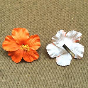 زهور اصطناعية 12 قطعة حولا بنات الأصل الموسيقى التصويرية رغوة هاواي زهرة الكركديه زهرة الشعر كليب العرسان 9CM