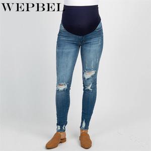 Calças quentes WEPBEL Mulheres gravidez inverno maternidade jeans para grávidas Roupa de maternidade para grávidas calças mulheres de enfermagem