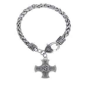 Bracelet pendentif croix ethnique BC14 rond pendentif rétro pendentif étoile à six branches amulette accessoires bracelet