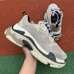 Light Gray Triple S Designer Baixa Faça velhos sapatilha Combinação Soles Botas das mulheres dos homens sapatos da moda Esportes chaussures Shoe Casual