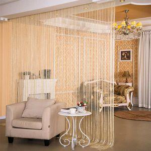 Fenster Jalousien Rollos Duschvorhänge Glitzer-String-Tür-Vorhang Raumteiler Perlwand Fringe Fenster Shades