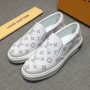 Original caixa high-end de luxo tendência de moda sapatos casuais senior designer de luxo condução sapatos selvagem flat-fundo sapatos de esportes ao ar livre