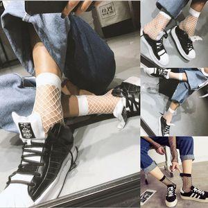 Verão Mulheres Fishnet tornozelo Senhora alta Socks malha Lace Fish Net meias curtas 1 par