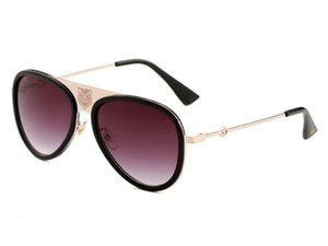 Diseño para mujeres G0363 hombres las gafas de abeja de la manera de los hombres de lujo del tigre Cabeza Gafas de sol Gafas de venta al por mayor y al por menor envío